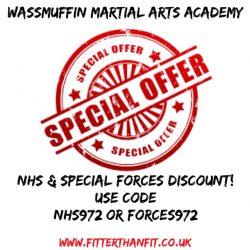 Discount for NHS & any SPECIAL FORCES employee – code NHS972 – FORCES972